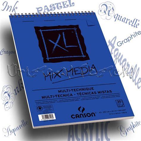 Canson Xl Mix Media A4 1 v 225 zlat 233 s fest蜻t 246 mb canson quot xl quot mix media 300g 30lap spir 225 l