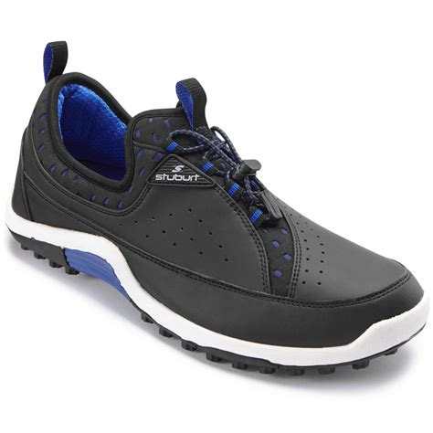 46 rrp stuburt mens sport pro fit slip on golf shoes