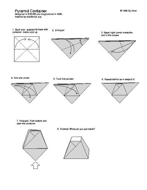 Origami Pyramid - origami pyramid favor box graphic
