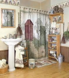 Rustic shower curtains bathroom accessories for lodge or cabin