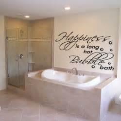 happiness is a long hot bubble bath sticker soak bathroom wall sticker by mirrorin