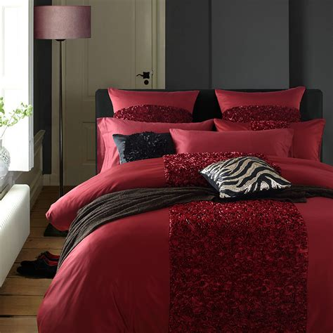 rose comforter set queen 2016 luxury linen washed silk applique embroidery rose