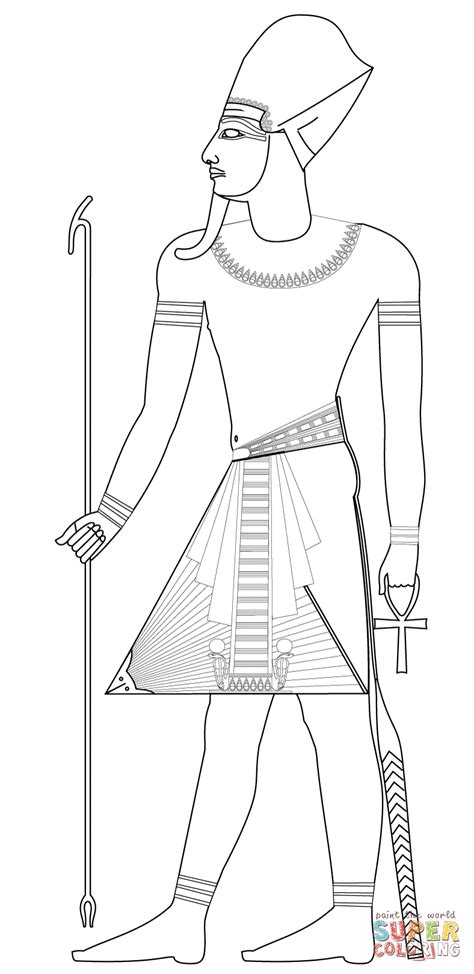 pharaoh crown template pharaoh with blue crown coloring page free printable