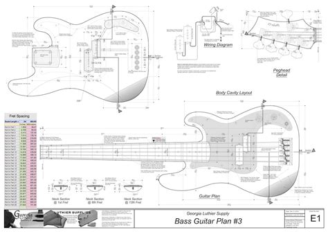 bass guitar templates fender tele template for crafts