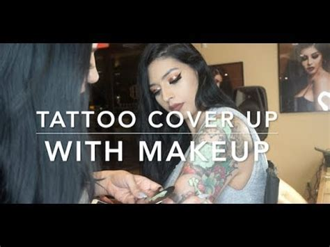 tattoo cover up video youtube tattoo cover up with makeup youtube