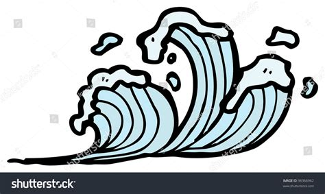 drawing a basic wave can be but after a while it can waves stock photo 96366962
