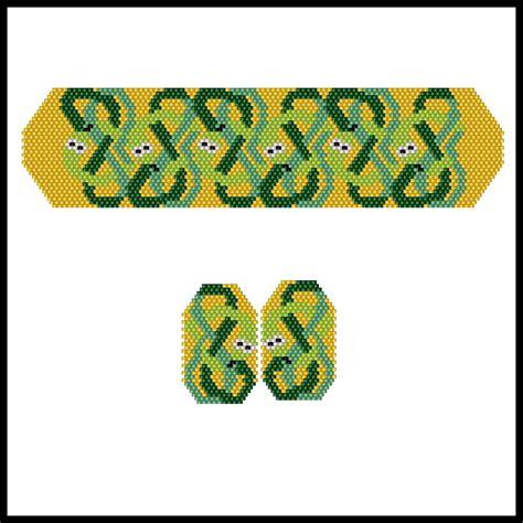 celtic bead patterns celtic snakes bracelet earrings bead patterns