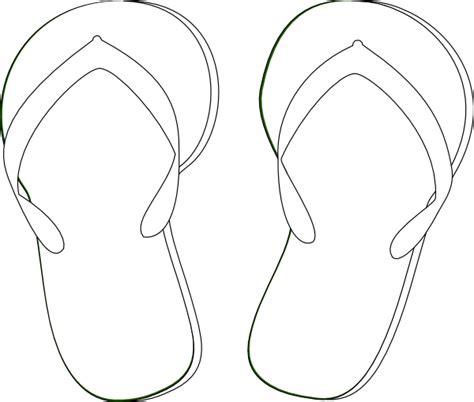 template of flip flops flip flops clip at clker vector clip royalty free domain