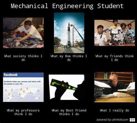 mechanical engineering student what people think i do