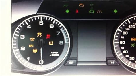 audi a4 dashboard warning lights audi a4 b8 dashboard lights warning symbols diagnostic