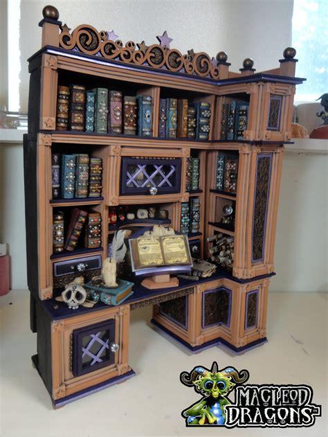 Study Desk With Bookshelf by Witch Cottage Study Desk Bookshelf By Macleoddragons On