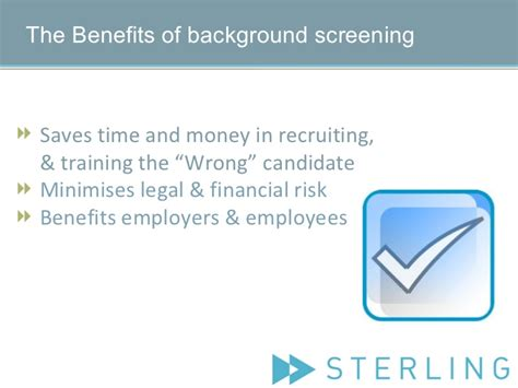 Sterling Direct Background Check What Is Background Screening
