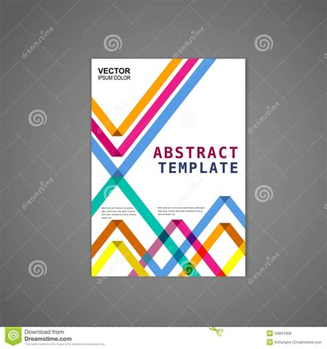 Colorful Triangle Pattern Background Poster Stock Vector Illustration Of Advertising Poster Abstract Template