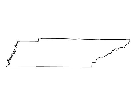 State Of Tennessee Outline by Printable Tennessee Template