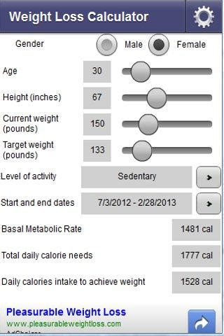 5 weight loss calculator archives