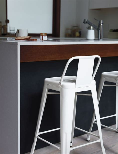 tolix 174 marais counter stool with low back design within