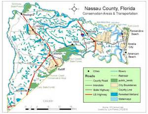 map of nassau county florida s gis applications february 2010