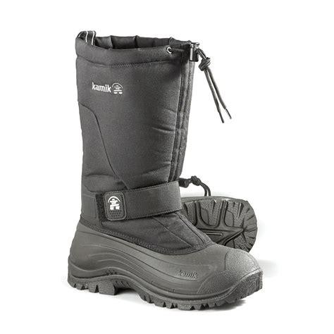kamik greenbay s waterproof 4 winter boots black