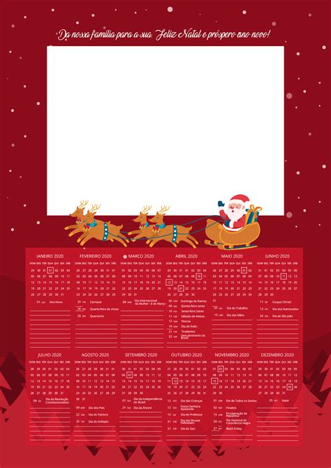 calendario  personalizado  natal  fazendo  nossa festa