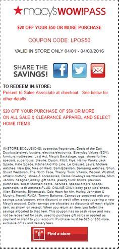 ls plus coupons 50 off 1000 images about macy s coupon codes printable coupons