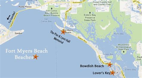 map of fort myers fort myers beaches southwest florida travel