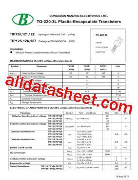 transistor tip127 datasheet tip127 datasheet pdf nanjing international co