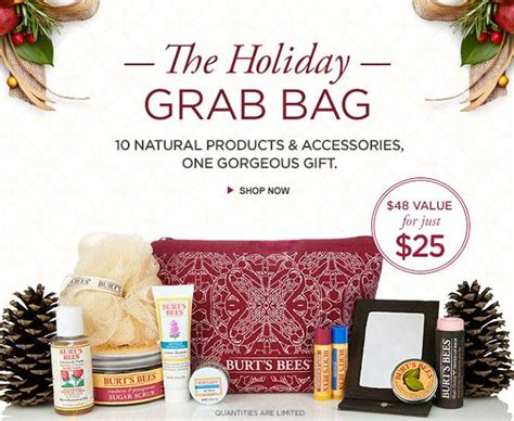 awesome holiday grab bag gifts burts bees grab bag 25 48 value with free shipping
