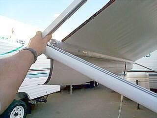 rv awning rafter rv awning operation pictorial