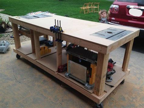 Build Your Own Router Table by Building Your Own Wooden Workbench Router Table Home