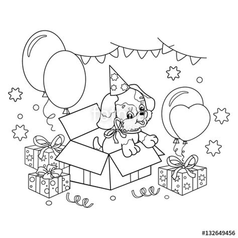 puppy birthday coloring page coloring pages dog birthday murderthestout
