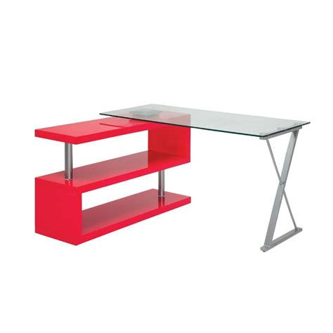Swivel Computer Desk Furniture Of America Fiora Modern Swivel Computer Desk In Pink Idf Dk6131rd