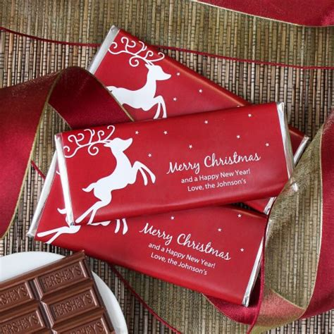 personalized holiday hershey s chocolate bars