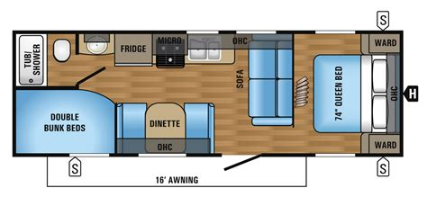 slide in cer floor plans jayco 26bh houghs rv rentals
