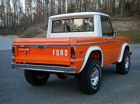 ford bronco half cab 1976 ford bronco half cab 302 ci 3 speed automatic lot