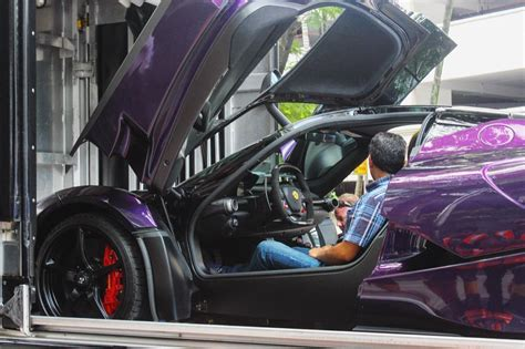 purple laferrari purple laferrari belongs to crown prince of johor