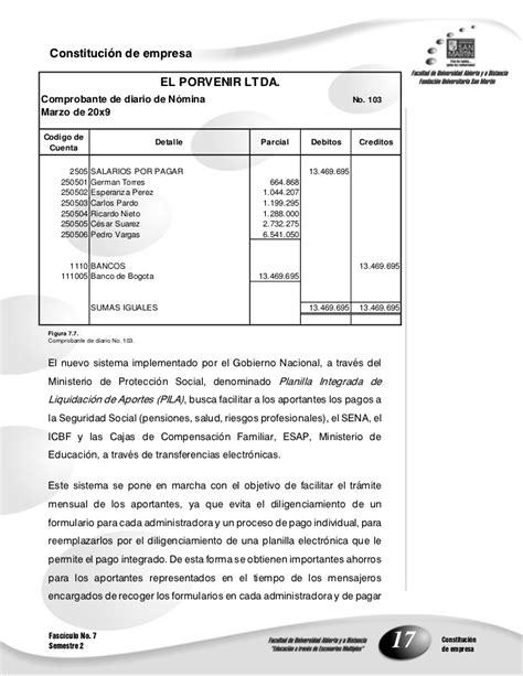 cuenta 238030 fondos de cesantas yo pensiones fasciculo 7