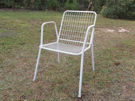 Retro Patio Chair Retro Metal Outdoor Bench Modern Patio Outdoor