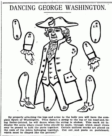 George Washington Coloring Pages For Kids Coloring Home Coloring Pages George Washington