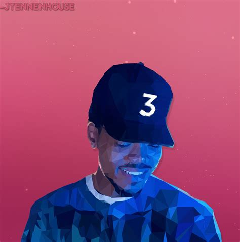 coloring book chance the rapper android fan low poly chance the rapper hiphopimages