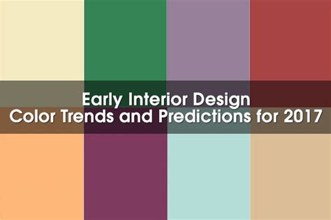 2017 Design Color Trends | early 2017 interior design color trends according to