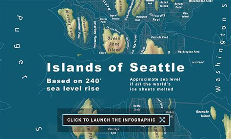 seattle map joke we all glaciers are melting here s what major cities