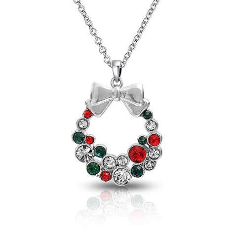 earring pendants jewelry silver plated wreath necklace stud