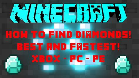 How To Find In Minecraft Minecraft How To Find Diamonds Gold And Iron Fast And Easy Xbox Pc Pe