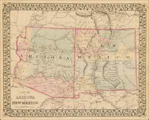 Arizona New Mexico Map by County Map Of Arizona And New Mexico Barry Lawrence