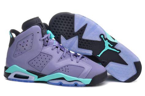 Light Purple Jordans new air 6 retro light purple green black shoes