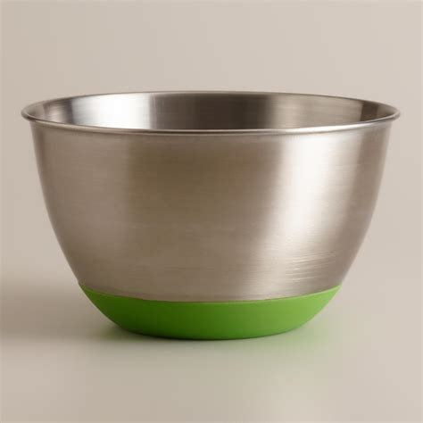 stainless steel bowls green 3 quart stainless steel mixing bowl world market