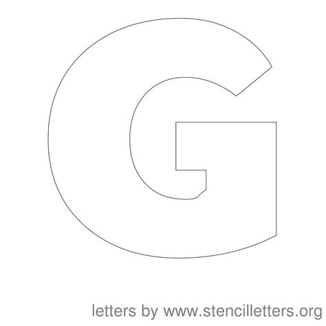 letter g template stencil letters 12 inch uppercase stencil letters org