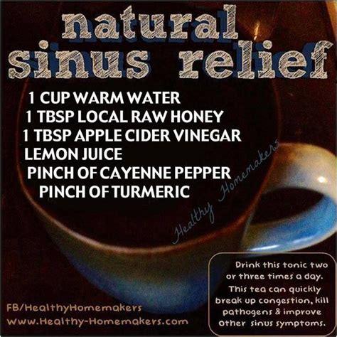 sinus relief household remedies