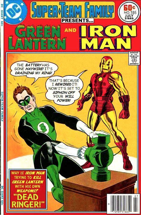 Green Man Meme - iron man vs the green lantern crossover know your meme