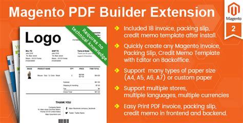 magento themes design pdf magento pdf invoice packing slip credit memo template